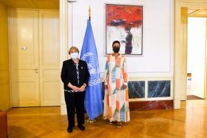 Le ministre Kitir rencontre la Commissaire aux droits de l'homme Michelle Bachelet
