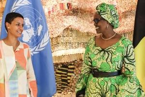 Entretien entre la ministre Kitir et Winnie Byanyima, directrice de l'ONUSIDA